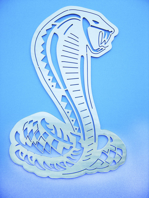 Cobra Snake Wall Art - Silver - 15""
