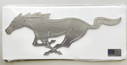 "Mustang Pony Wall Art - Silver - 12"""
