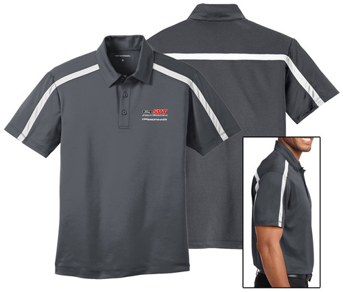 Customizable Gray/White Polo Shirt - K547
