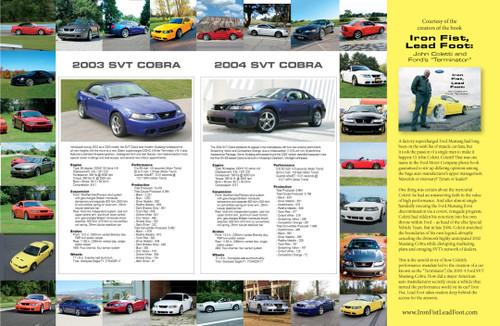 "2003 SVT Cobra Terminator Poster 17""x11"" - Double Sided"