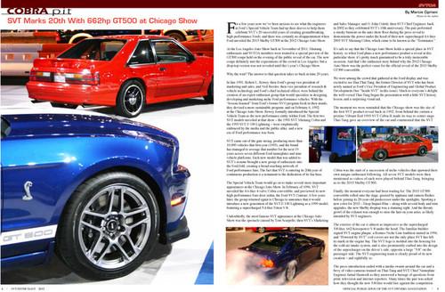 SVT Enthusiast Magazine Vol 6 Issue 1 - 2012