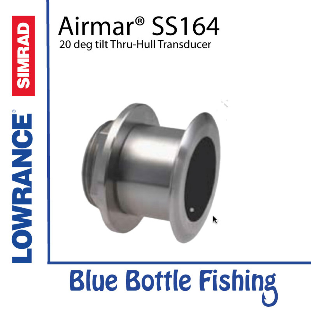 SS164 Stainless Steel low profile thru-hull 1 kW | Blue
