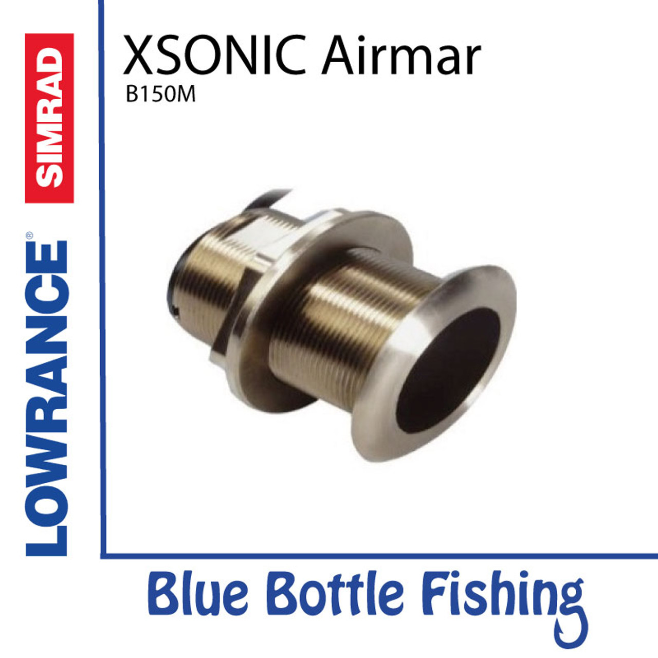 XSONIC Airmar B150M 12deg Thru Hull transducer Bronze | Blue Bottle
