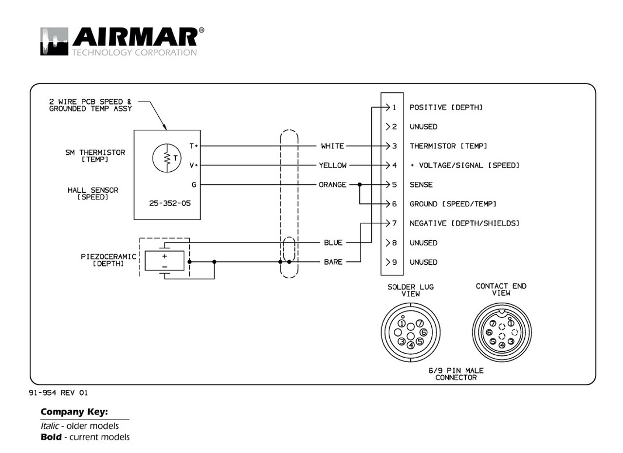 airmar wiring diagram mix and match 1kw blue bottle marine rh bluebottlemarine com d sub 9 pin connector wiring diagram