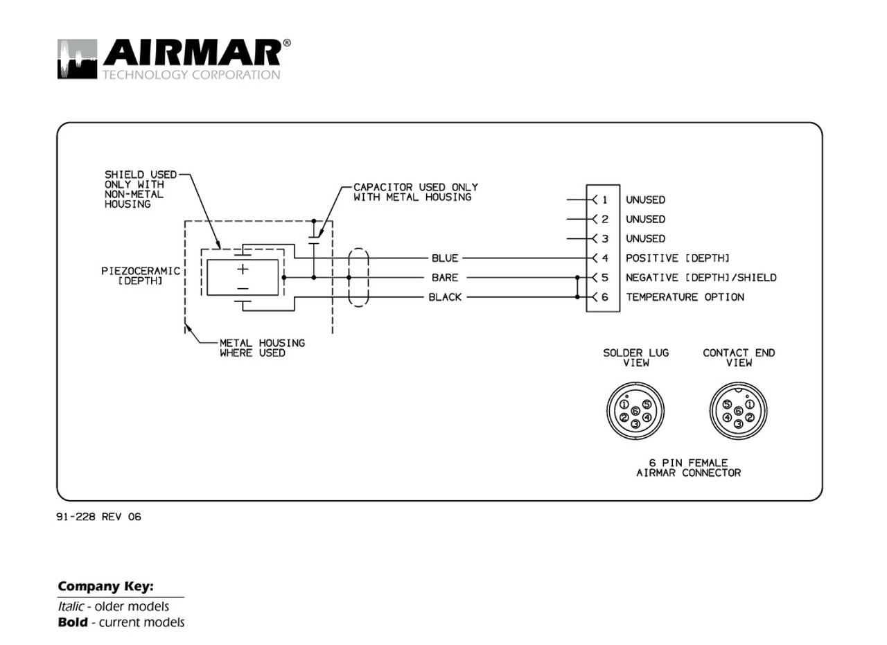 Airmar Wiring Diagram Garmin 6 Pin  D