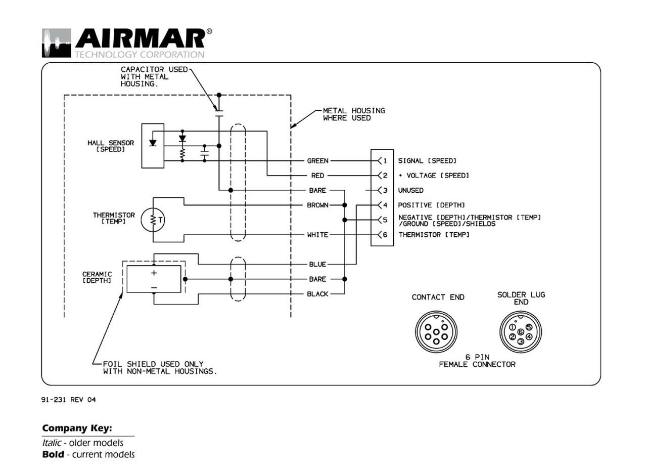 Airmar Wiring Diagram Garmin 6 Pin  S D T