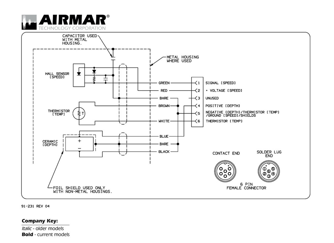 Airmar Wiring Diagram Garmin 6 Pin  S D T