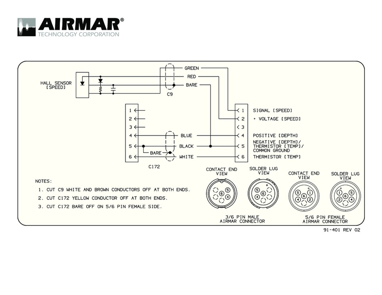 Airmar Wiring Diagram Garmin 6 pin (S) | Blue Bottle Marine on