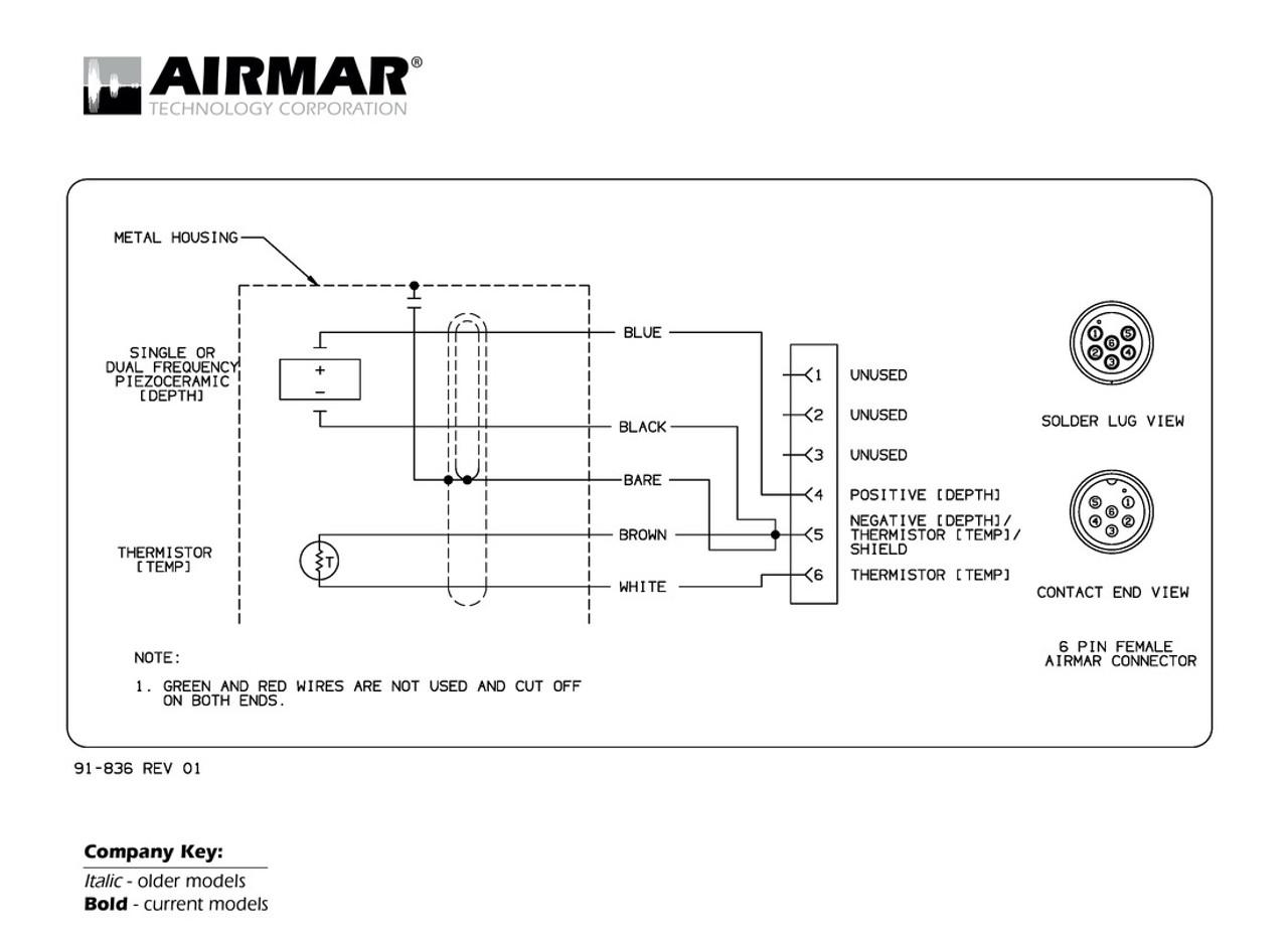 Airmar Wiring Diagram Garmin 6 Pin  D  T