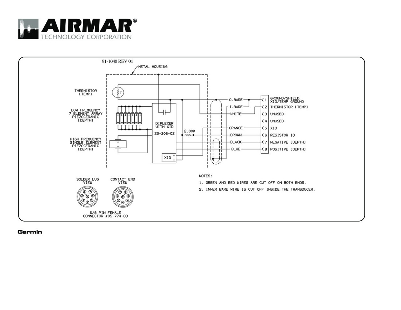Airmar Wiring Diagram Garmin 1kw 8 Pin  D T