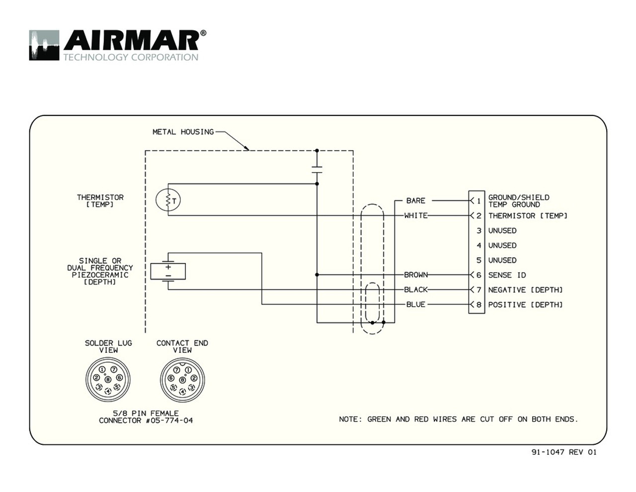 Airmar Wiring Diagram Garmin B117 8 Pin  D T