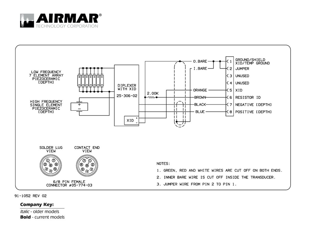 Airmar Wiring Diagram Garmin M260 8 pin (D) | Blue Bottle Marine on