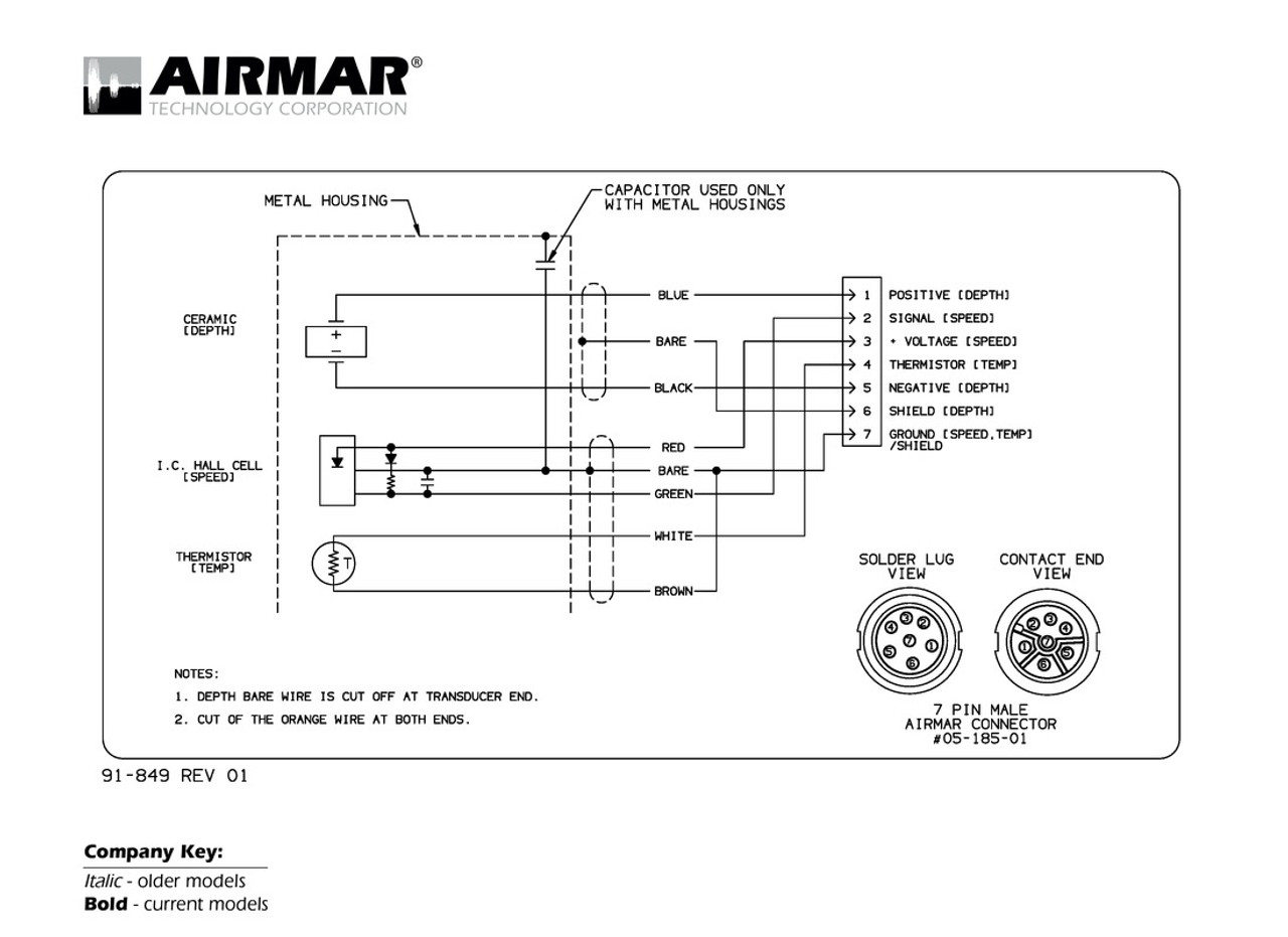 airmar wiring diagram lowrance simrad 7 pin (d,s,t) blue bottle marine Trailer Wiring Diagram depth, speed \u0026 temperature transducers with lowrance simrad 7 pin connector (