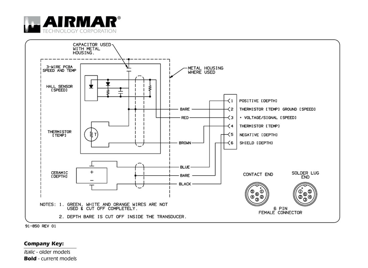 Airmar Wiring Diagram Navman  Northstar 6 Pin