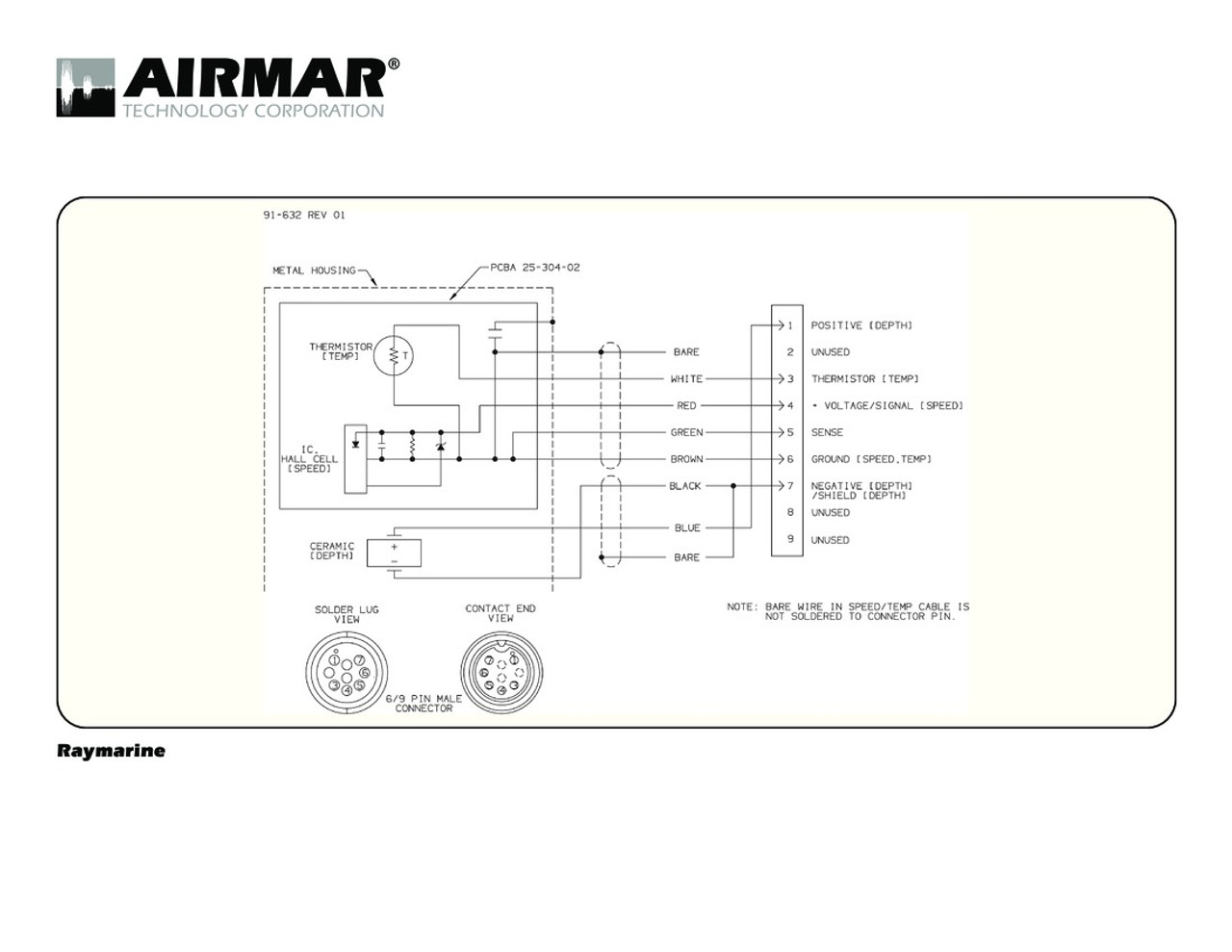 airmar wiring diagram raymarine a series 9 pin blue bottle marine Kenwood Wiring Diagrams depth, speed \u0026 temperature transducers for raymarine a series with raymarine 9 pin
