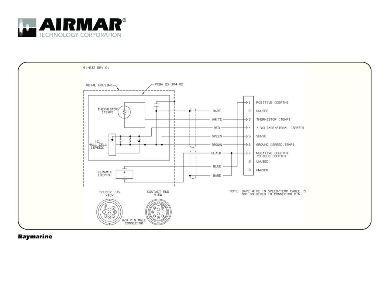 airmar wiring diagram raymarine a series 9 pin blue bottle marine Panasonic Wiring Diagrams depth, speed \u0026 temperature transducers for raymarine a series with raymarine 9 pin