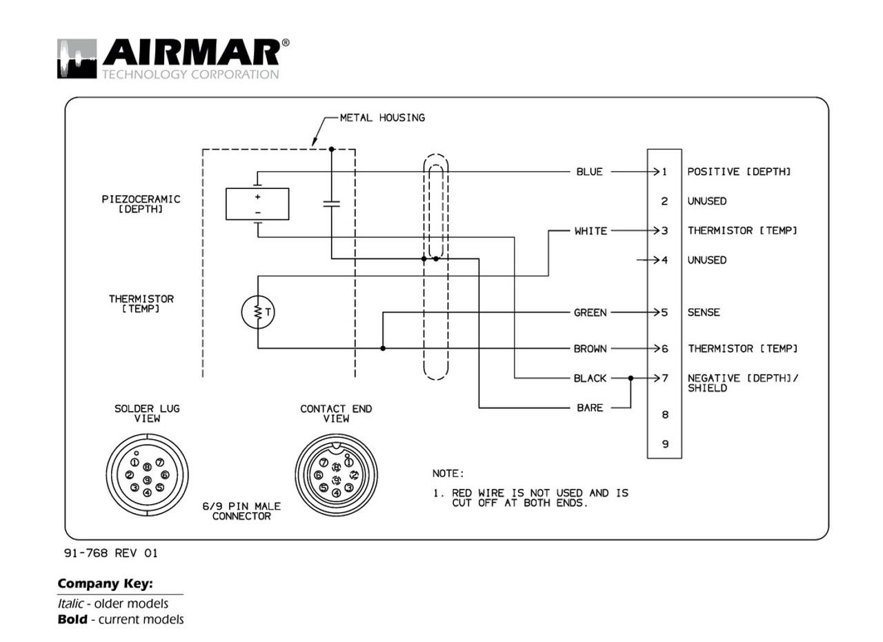 Airmar Wiring Diagram Raymarine 6  9 Pin