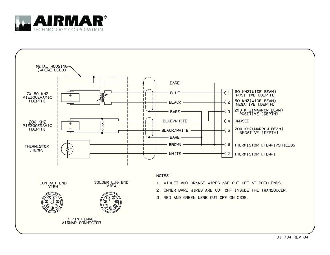 Airmar Wiring Diagram Simrad 1kw 7 Pin