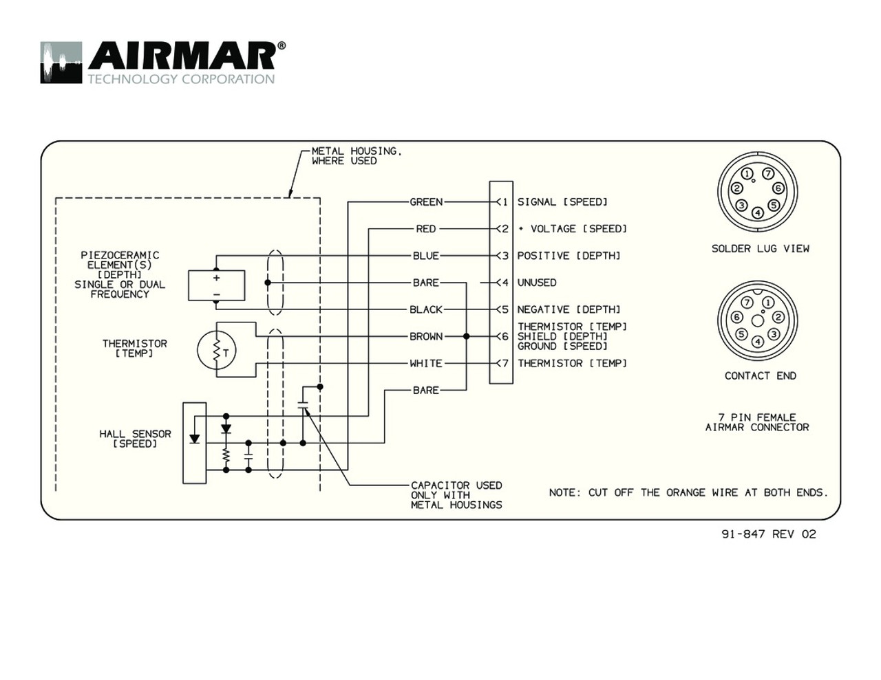 Airmar Wiring Diagram SIMRAD 7 pin | Blue Bottle Marine on