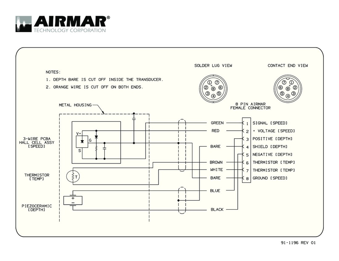Airmar Wiring Diagram Sitex 8 pin | Blue Bottle Marine