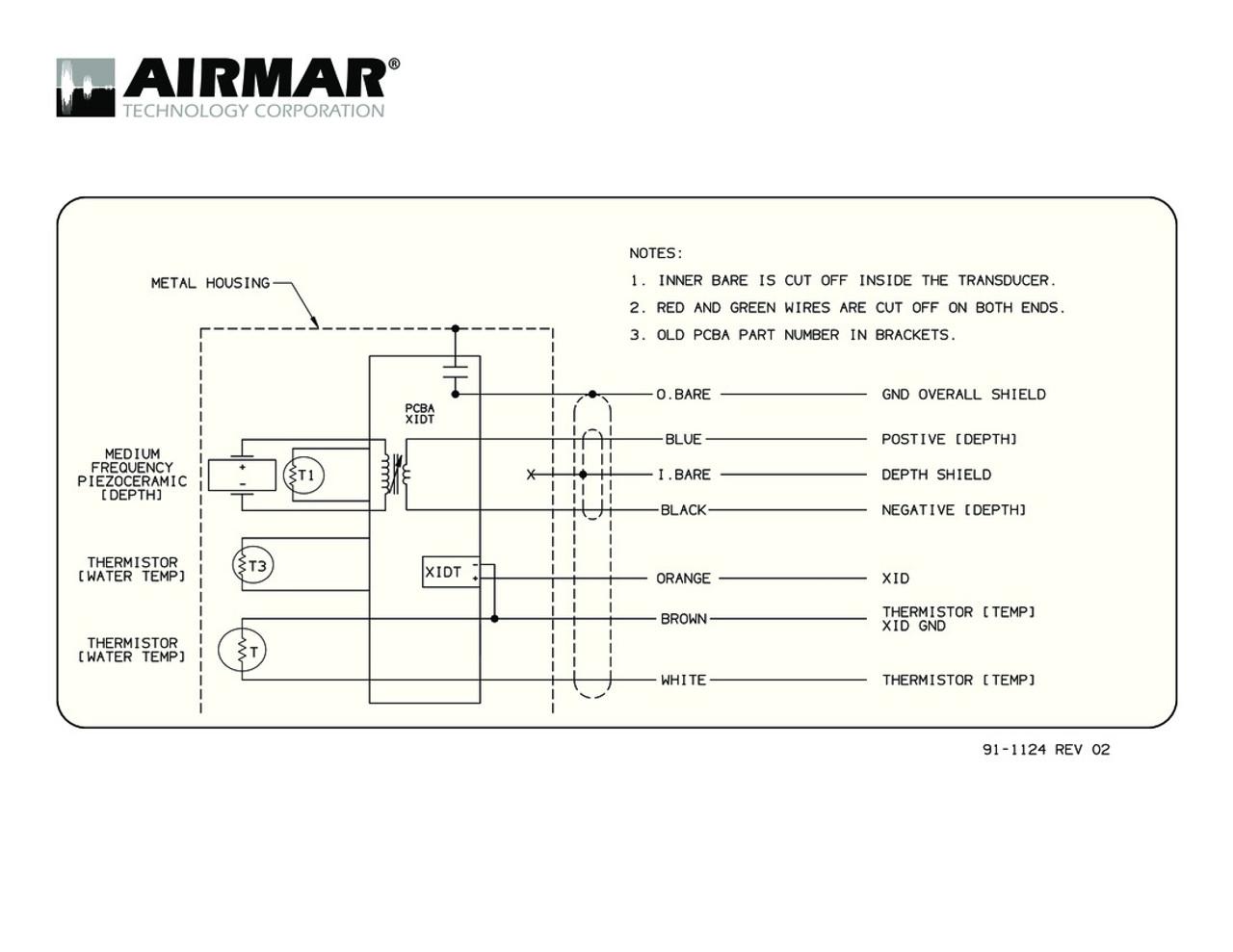 Airmar Wiring Diagram B175M, SS175M | Blue Bottle MarineBlue Bottle Marine