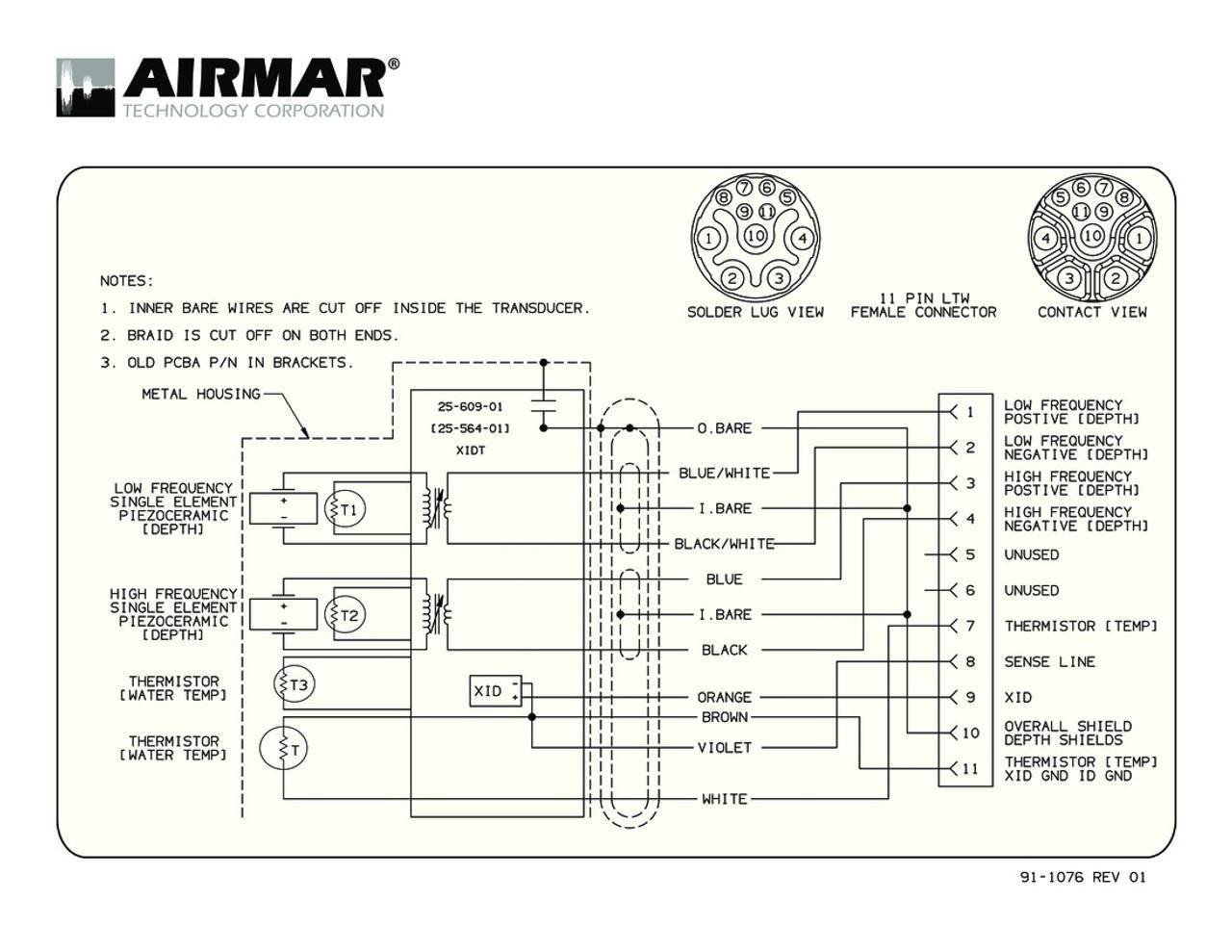 airmar wiring diagram b765lh blue bottle marine Mercury Wiring Diagrams