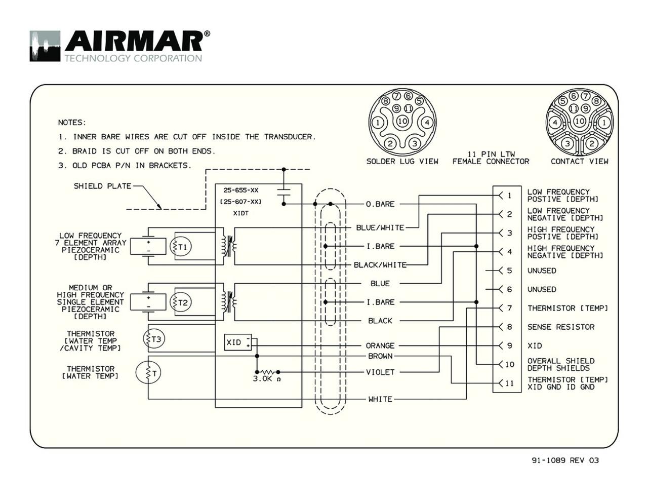 Airmar Wiring Diagram TM265 | Blue Bottle Marine on