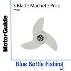 """MotorGuide 3 Blade Machete Prop 3.5"""" - White"""