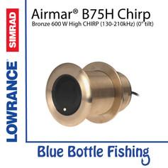 Airmar for Lowrance / SIMRAD B75H 12 deg Tilt Bronze 600 W Thru Hull High CHIRP (130-210kHz) Depth/Temp (20 deg tilt) - blue 7 pin connector