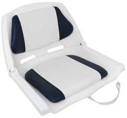 Padded Folding Seat - Blue/White & White Shell