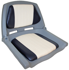 Padded Folding Seat - Blue / White