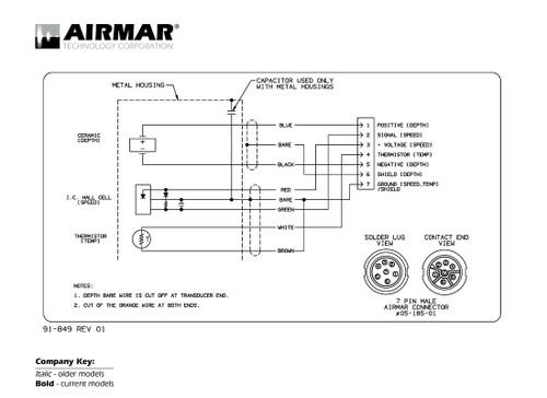 Airmar Wiring Diagram Lowrance SIMRAD 7 Pin D S T Blue