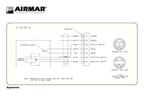 airmar wiring diagram raymarine dsm300 7 pin (d) blue bottle marine Wiring Diagram for Lowrance HDS 7