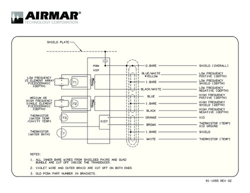 Airmar Wiring Diagram R109, R111 | Blue Bottle Marine on