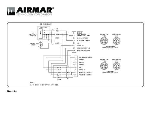 Airmar Wiring Diagram Garmin St850 8 Pin  S T