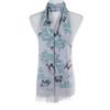Grey Bear and Plant Pattern Animal Design Premium Women Ladies Scarves