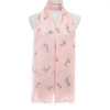 Pink Small Floral Pattern Lightweight Soft Large Premium Scarf