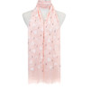 Pink Hearts Pattern Lightweight Soft Large Premium Scarf