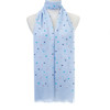 Blue Small Hearts Pattern Lightweight Soft Large Premium Scarf