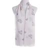 Beige Premium Star Heart Print Large Soft Lightweight All Season Scarves Shawl Wrap