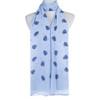Blue Leaf Pattern Premium Large Soft Lightweight All Seasons Scarve Shawl Wrap