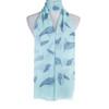 Teal Leaf Pattern Premium Large Soft Lightweight All Seasons Scarve Shawl Wrap