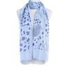 Blue Premium Large Animal print  Snake skin soft scarve shawl wrap