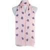 Pink Leaf Pattern Premium Large Soft Lightweight All Seasons Scarve Shawl Wrap