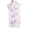 Pink Bird Tree Pattern Premium Large Soft Lightweight All Seasons Scarve Shawl Wrap