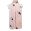 Pink Bird Pattern Premium Large Soft Lightweight All Seasons Scarve Shawl Wrap