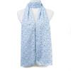 Blue Polka dots Pattern Premium Large Soft Lightweight All Seasons Scarve Shawl Wrap