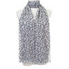 Grey Heart Pattern Premium Large Soft Lightweight All Seasons Scarve Shawl Wrap