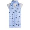 Blue Hearts Dots Pattern Premium Large Soft Lightweight All Seasons Scarve Shawl Wrap
