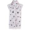 Beige Hearts Pattern Premium Large Soft Lightweight All Seasons Scarve Shawl Wrap